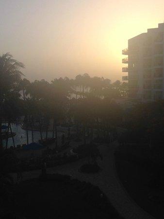 Aruba Marriott Resort & Stellaris Casino: Sunset view from our balcony!