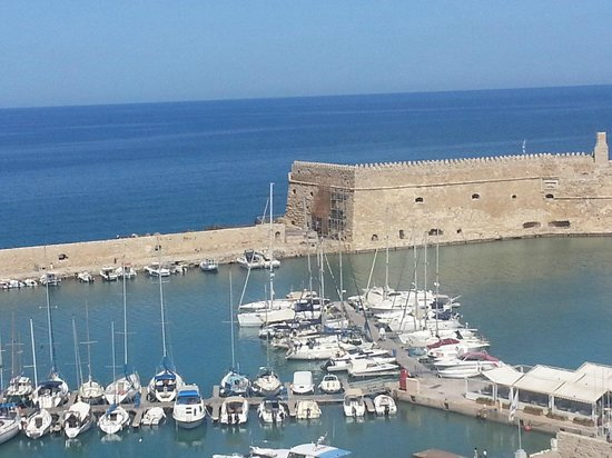 Herb's Garden : A view of Heraklion's Venetian Fortress from Herbs'