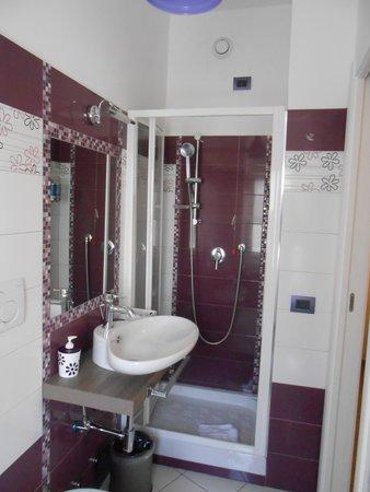 Dem Guesthouse: il bagno violetto
