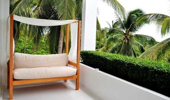 Code: The balcony with a very comfortable daybed