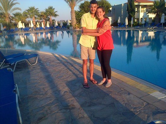 Avanti Holiday Village: My 2 teenagers standing by the pool