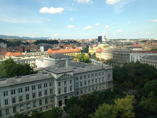 The Westin Zagreb: afternoon view from the room