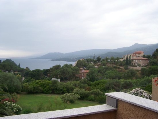 Hôtel Restaurant Bartaccia : vue de la chambre sur le golfe du Valinco