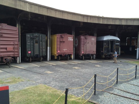 Georgia State Railroad Museum: Boxcars in the roundhouse