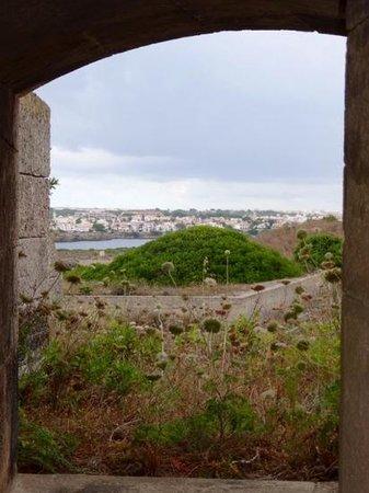 La Mola de Menorca: view of Mahon from La Mola