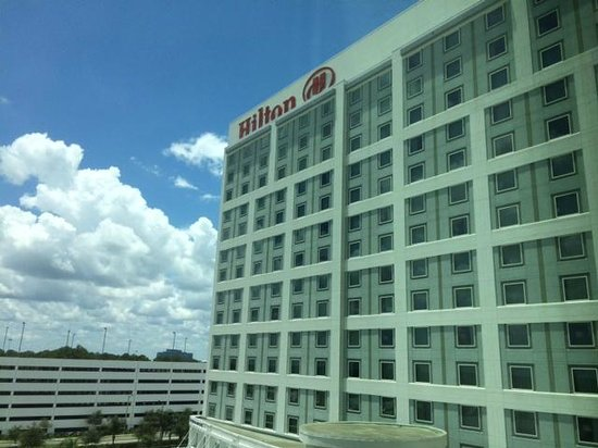 Hilton Orlando: BIG hotel! (this is just one wing of the hotel).