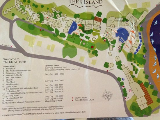 The Island Hotel: Hotel plan