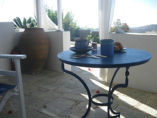 Nikoletta Geronti Pension: terrasse
