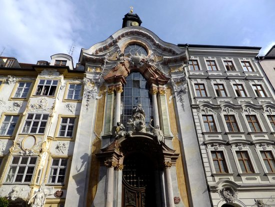 Asam Church: vue extérieure