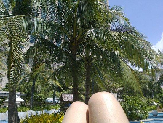 Radisson Blu Cebu: view from the pool