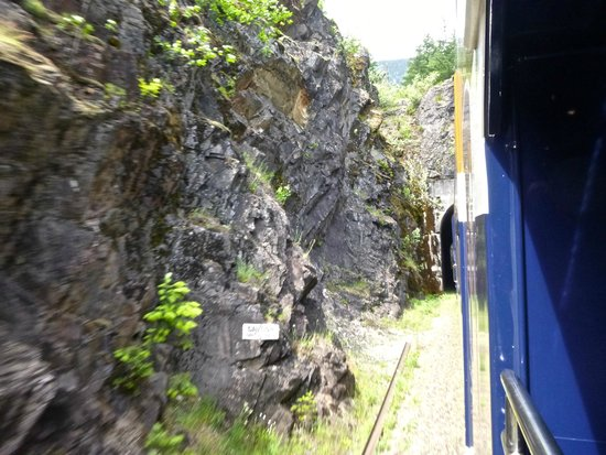 The Rocky Mountaineer Train: another tunnel coming up