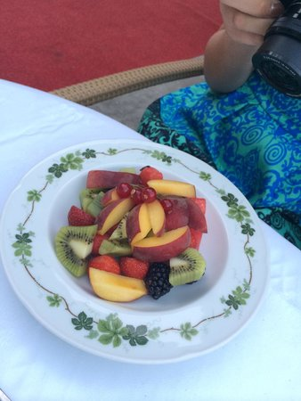 Ammende Villa : Fresh fruit as dessert