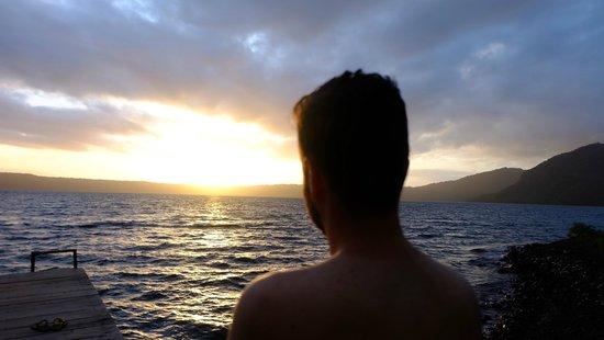 San Simian Eco Lodge: Watching the sunrise