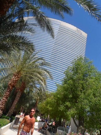 ARIA Resort & Casino : View of Aria from Pool