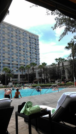 Hilton Orlando Bonnet Creek: Cabana View Of Hotel