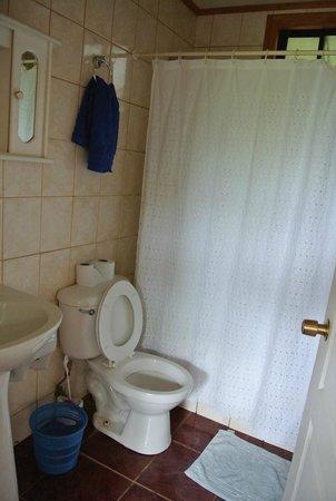 Hostal Cabanas Akapu: Bathroom