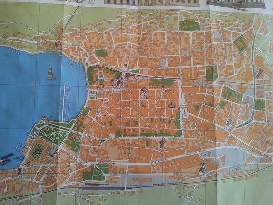 Lake Como: Tourist map of Como