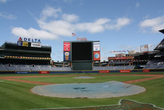 Turner Field: View from behind the plate