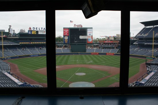 Turner Field: View from the press box