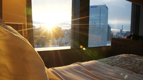The Capitol Hotel Tokyu : Linda vista do por do sol