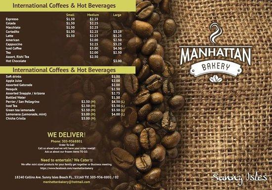 Manhattan International Bakery: Menu