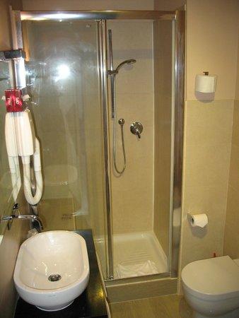 Badkamer met douche, toilet en wastafel - Picture of Daysleeper B&B ...