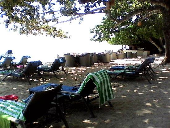 Alegre Beach Resort: Lounge chairs at the Beach