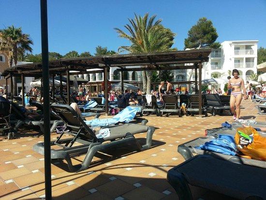 Insotel Tarida Beach Sensatori Resort : La piscina del corpo centrale...affollatissima!