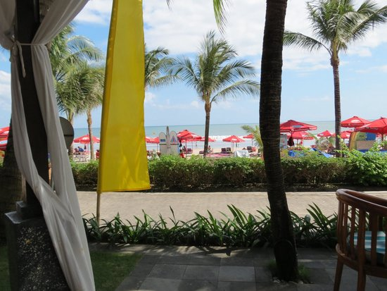 Legian Beach Hotel: View from the restaurant