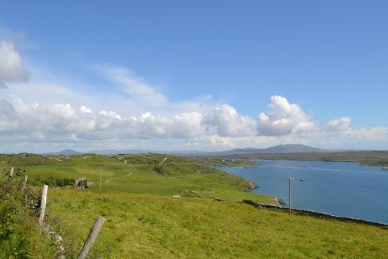 Clifden Castle : View from the castle