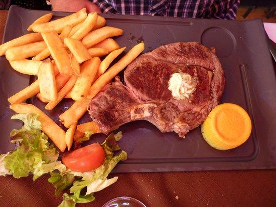 Restaurant des Voyageurs : Côte de taureau grillée...