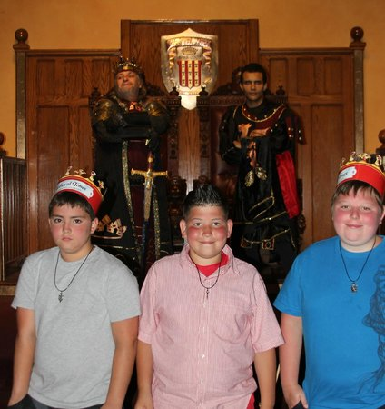 Medieval Times Dinner & Tournament: Brandon, Ryan and Logan had a great time along with the rest of the family