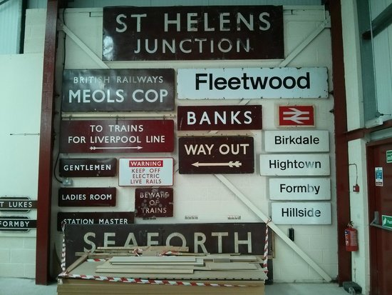 Ribble Steam Railway: Old station signage