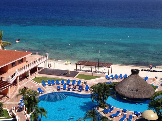 El Cozumeleno Beach Resort: View from 1609.