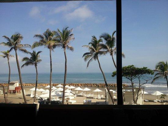 Hotel Capilla del Mar: Vista desde el resturante del hotel, desayunando en la mañana.