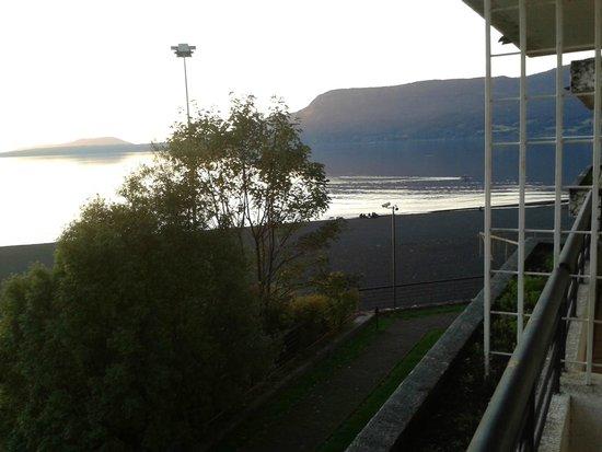 Gran Hotel Pucon: Vista desde la terraza del depto.