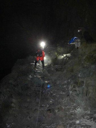 Go Below Underground Adventures: The abseil down