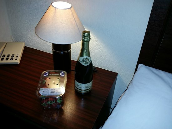 Springfield Hotel & Health Club: Champagne and strawberries in room