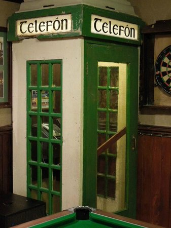 Danny Mann Pub: Neat Phone Booth Inside the Pub