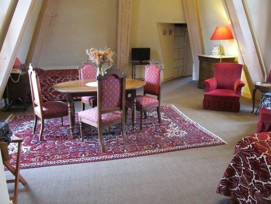 Château de La Côte : Notre chambre (salon)
