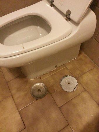 Prati Hotel : tappezzamenti nel pavimento del bagno e tavoletta rotta! ??! mah..
