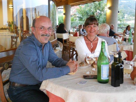 Hotel Residence Santa Chiara: Cena in terrazza