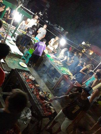 Gili Trawangan Night Market: Seafood stall