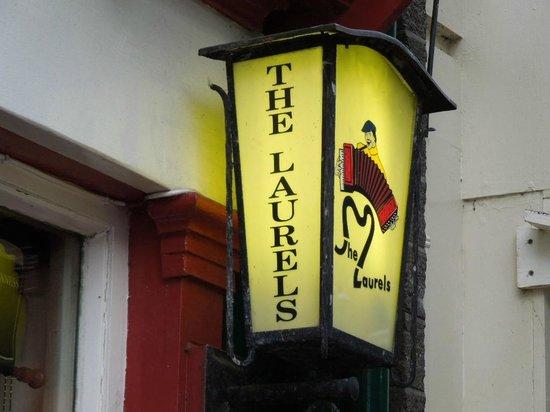 The Laurels Pub: Sign Outside