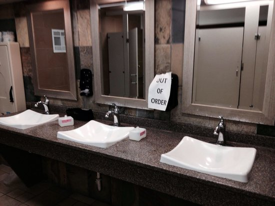 Quality Inn Boardwalk: They didn't replace the soap in the ladies bathroom in the lobby the whole day of July 10th :(