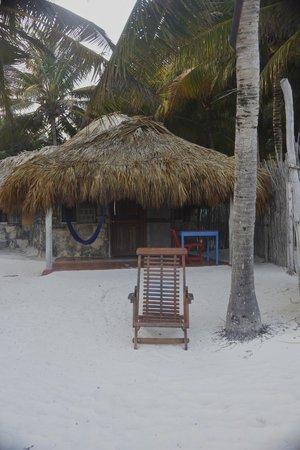 Zamas: One of the beachside cabanas