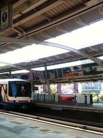 Sukhumvit: the sky train.
