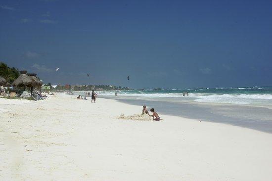 Zamas: The beach nearby (about 2 km)