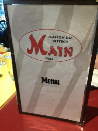The Main Deli Steak House: Menu