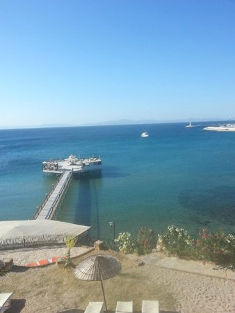 Didim Beach Resort & Spa : view from the sunbed